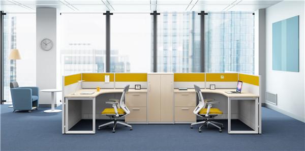 西安屏风员工桌设计
