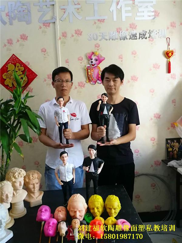 软陶人物雕像培训学员毕业作品