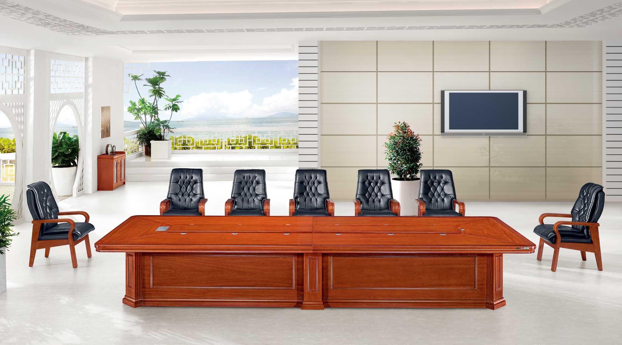 西安办公家具实木会议桌