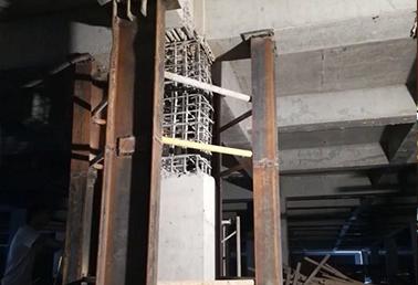 浦发钢结构加固有限责任公司与某公司合作地库柱子加固