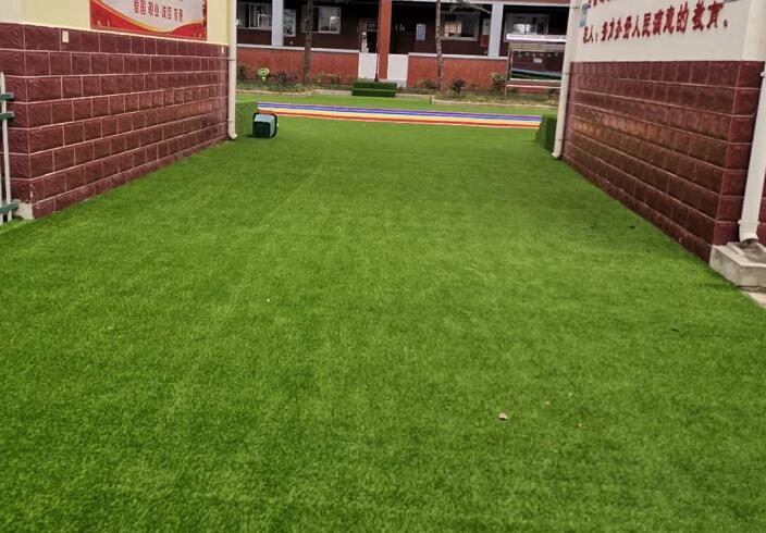 陕西人造草坪施工案例