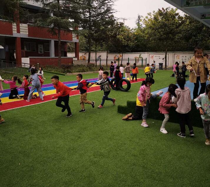 陕西幼儿园人造草坪案例