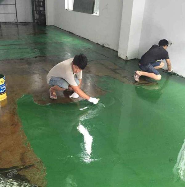 环氧地坪施工时地面潮湿怎么处理?