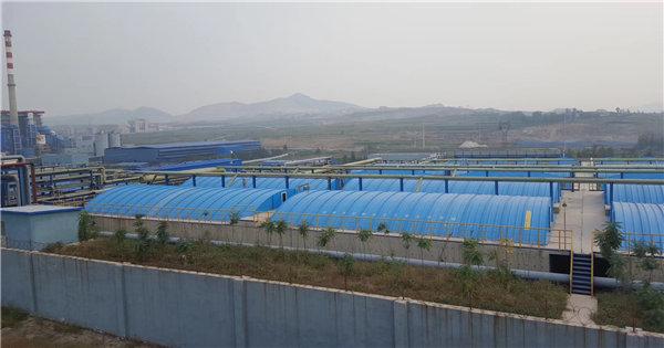 荆门某污水处理厂   水池加玻璃钢弧形罩