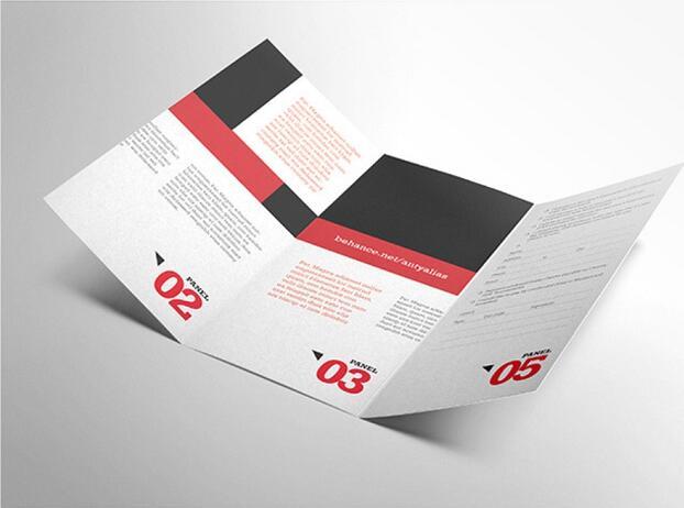 经典三折页的行业要求和基础参数与各行业宣传印刷鉴赏!
