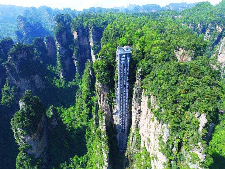 盤點國內景區里的8大觀光電梯