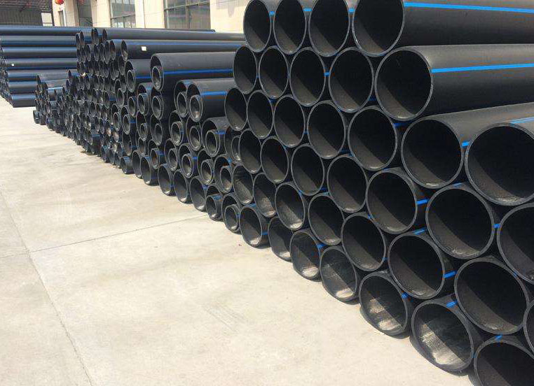 PE给水管堆放区域