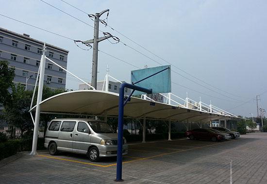 西安户县大风印务有限公司膜结构车棚工程