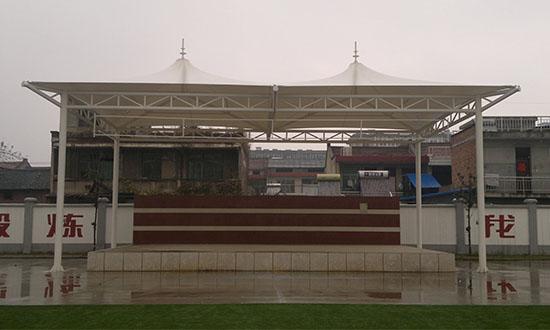 西安戶縣人民路小學主席台膜結構看台