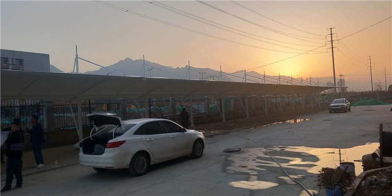 户县庞光镇膜结构车棚工程