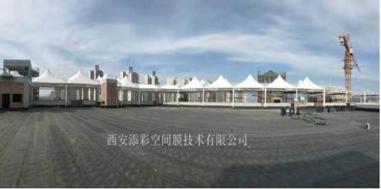 安康左岸生活广场膜结构工程