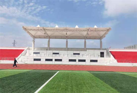 长安大学渭水校区体育场地膜结构主席台工程