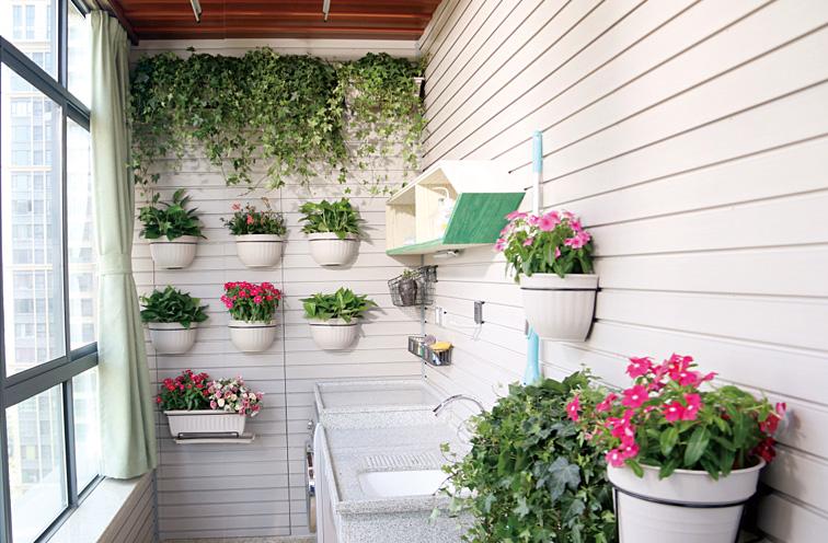 花园阳台成墙面装修图