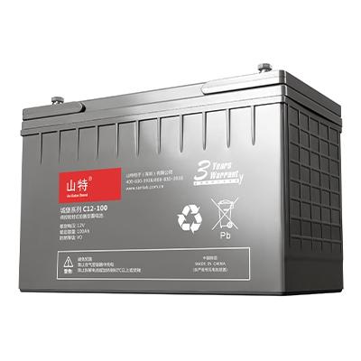 山特蓄电池C12-100AH 山特免维护蓄电池12V100AH