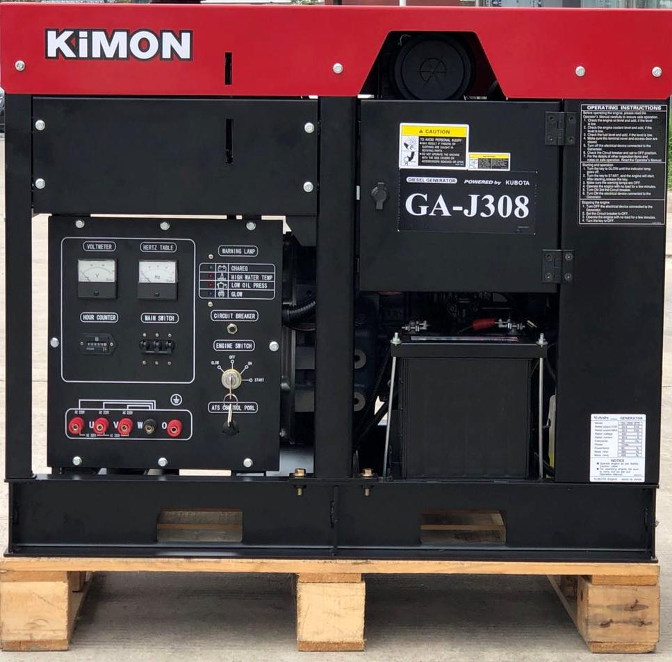 日本久保田永磁发电机组GA-J308 久保田动力发电机三相8KW