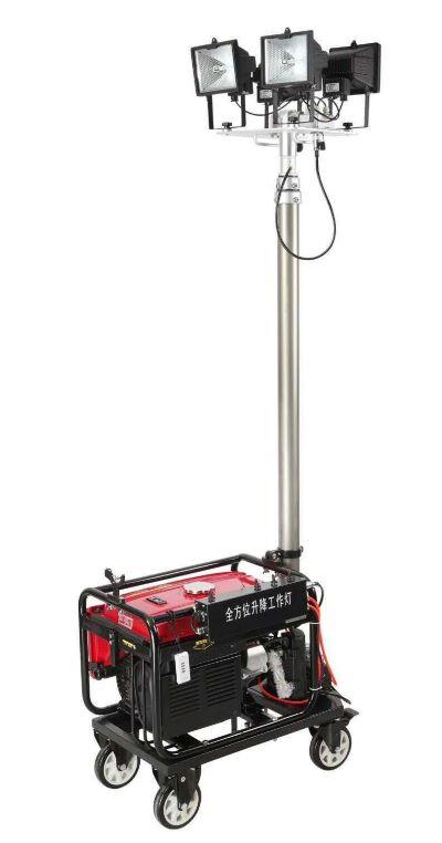 4*500w自动升降泛光灯 2KW发电机带工作灯