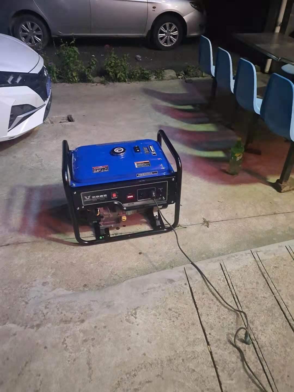 汽油发电机5KW 带动农家乐经营场所用电设备
