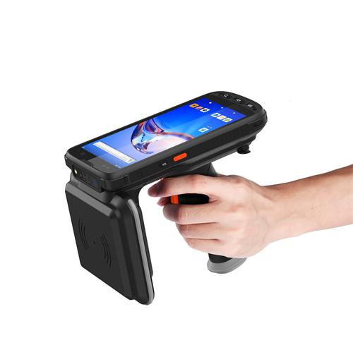 RFID条码固资产数据采集器PDA盘点机安卓系统屏幕键盘无线蓝牙手持终端扫描器