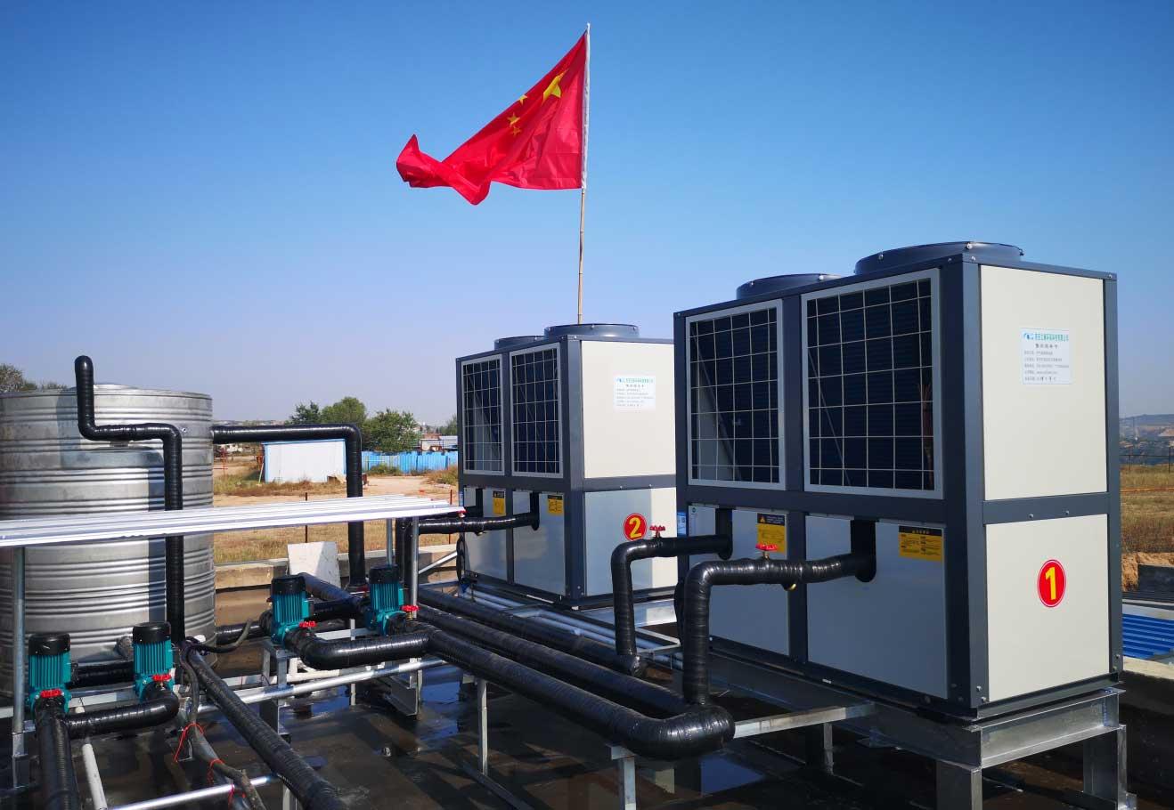 榆林市橫山宏盛加油站空氣源熱泵采暖項目