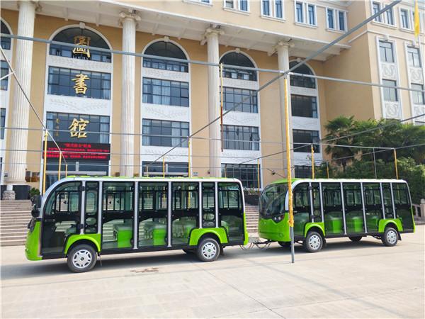 陕西电动巡逻车厂家与西北大学达成合作,使用陕西电动观光车出行