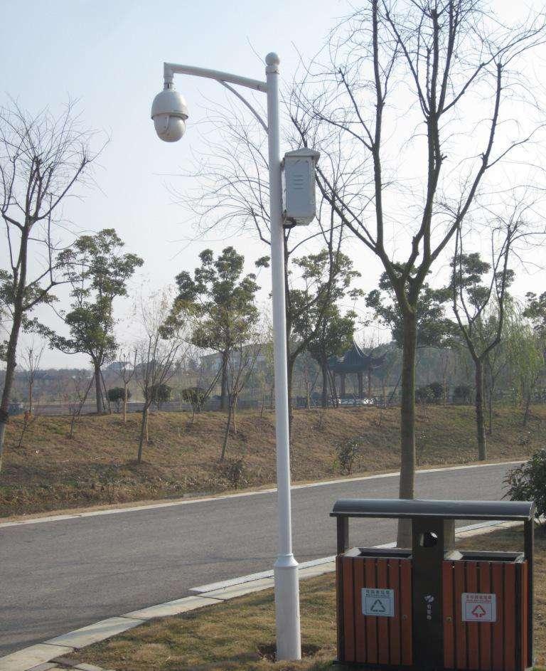青岛公园路灯安装