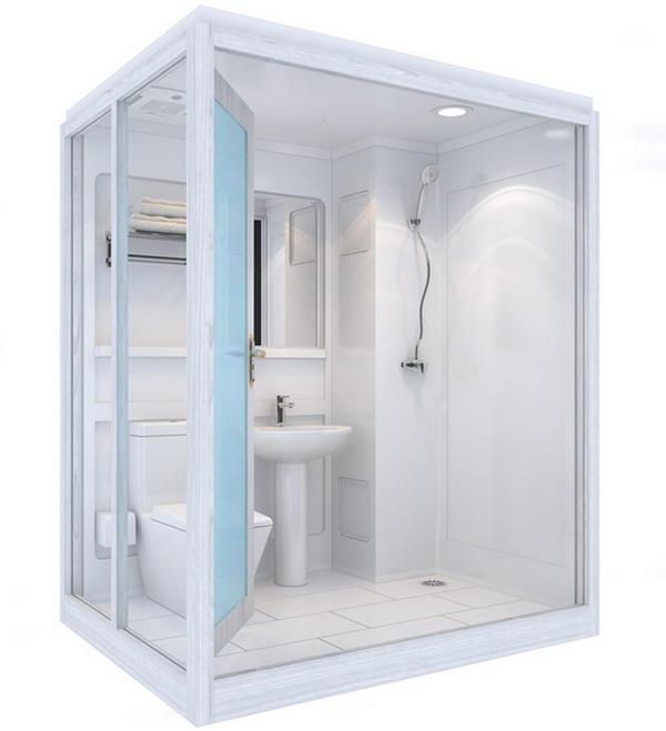 整体卫浴VS传统卫浴,提..率增强体验度。