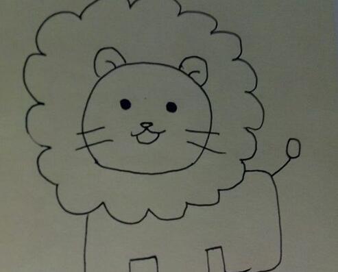 美术培训学校教您:画一头可爱的小狮子少儿简笔画