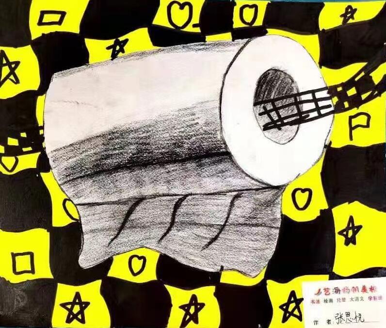 某学生卫生纸美术培训作品展示