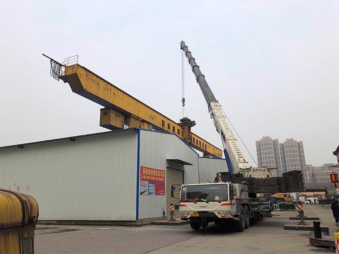陕西大型设备租赁公司-拆除航车案例