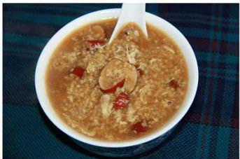 小米鸡蛋红糖粥