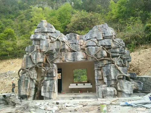 河南塑石假山施工