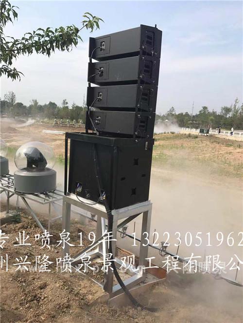 河南音乐喷泉施工工程线阵音响案例实景