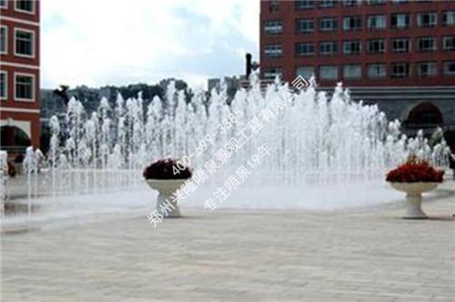 卢氏阳光小区旱式喷泉案例实景