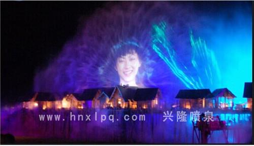 河南激光水幕电影喷泉实景
