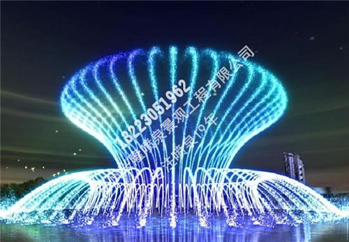 圆形摇摆喷泉实景