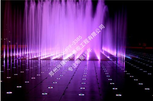 汝阳半岛国际旱式喷泉案例实景