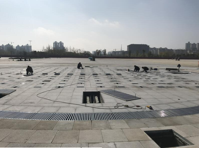 上蔡县市民广场喷泉安装