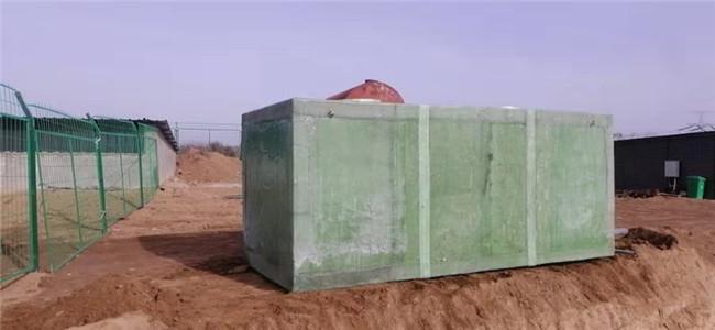 泾川玻璃钢污水处理设备施工中