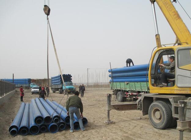 陕西HDPE给水管在城市市政饮用水供水施工现场!