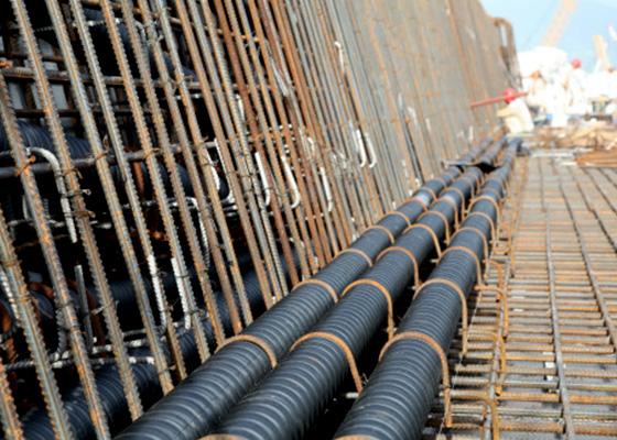 陕西联塑管道HDPE塑钢缠绕管工程案例