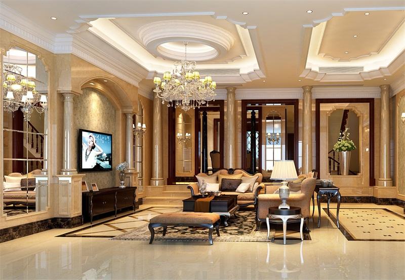 欧式家装设计效果图