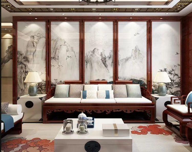 白银中式背景墙设计