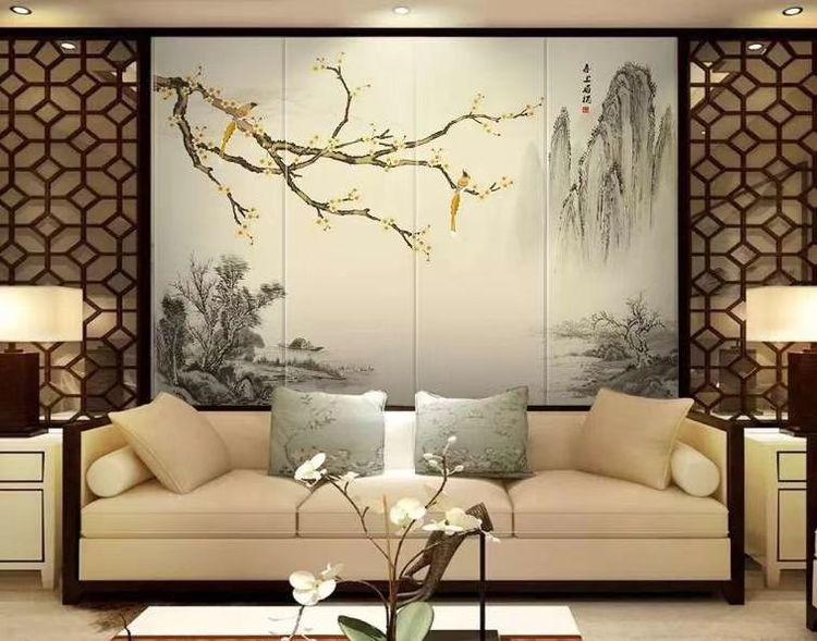 白银古典背景墙装饰