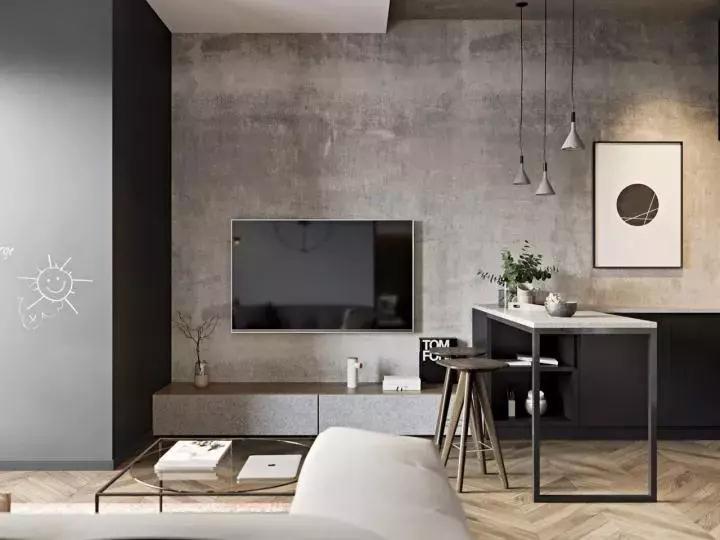 白银电视背景墙设计