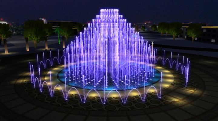 南充嘉陵广场音乐喷泉