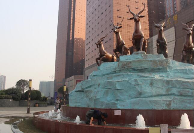 天来国际广场音乐喷泉