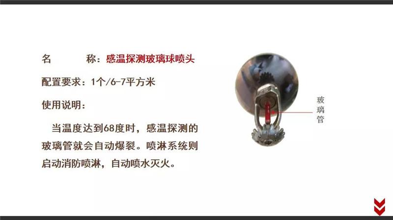 四川消防器材-感温探测玻璃球喷头: