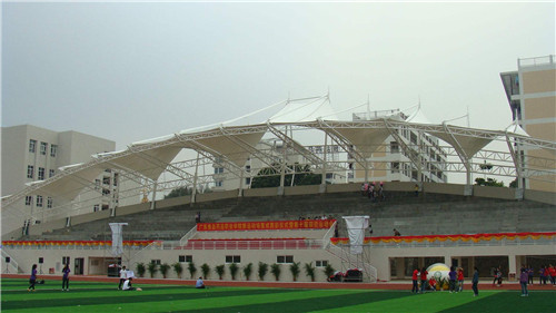 河南膜结构看台在体育场的应用