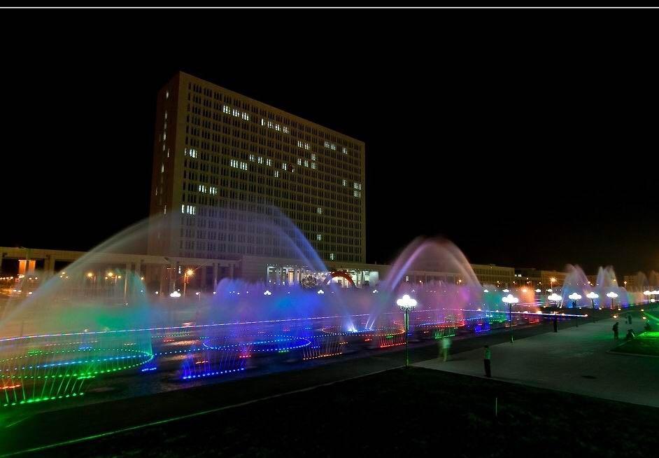 河南喷泉公司-信阳市政府牡丹园音乐喷泉水秀