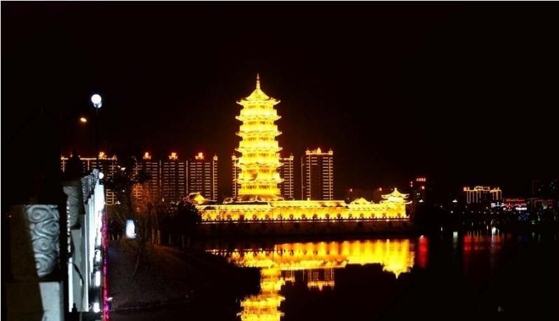 河南喷泉公司-柘城北湖音乐喷泉